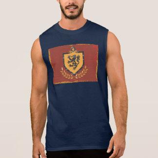 Lion Shield Coat of Arms Grunge Design Sleeveless T-shirt