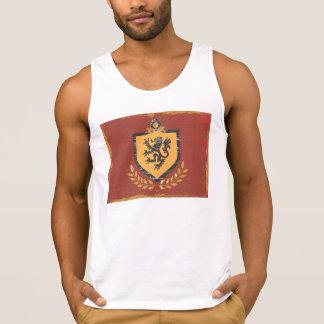 Lion Shield Coat of Arms Grunge Design T Shirt