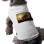 Lion Silhouette Dog T-shirt