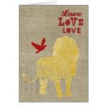Lion Silhouette Love Card