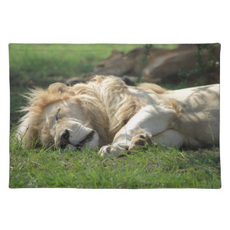 Lion Sleeping Cloth Placemat