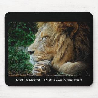Lion Sleeps Mouse Pad