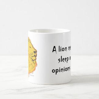 Lion Slogan Never Loses Sleep Coffee Mug
