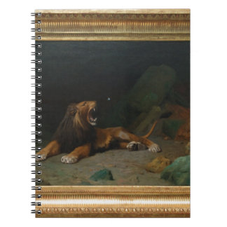 Lion Snapping at a Butterfly by Jean-Leon Gerome Spiral Notebook