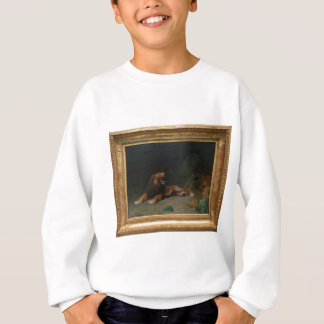 Lion Snapping at a Butterfly by Jean-Leon Gerome Sweatshirt