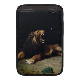 Lion Snapping at a Butterfly MacBook Air Sleeve