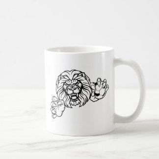Lion Soccer Ball Sports Mascot Coffee Mug