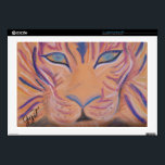"Lion Spirit Decal For Laptop<br><div class=""desc"">This is a spirit art painting of the lion. Lion as a animal totem mainly represents strength,  but since the lion also is active both in day and night,  he also reminds us to stay balanced.</div>"