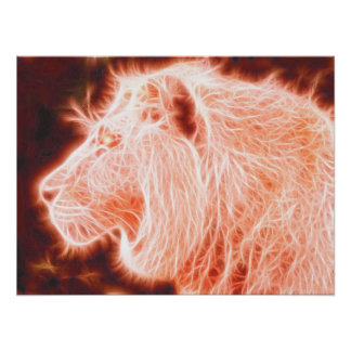 *Lion* Spirit of Fire Poster Print