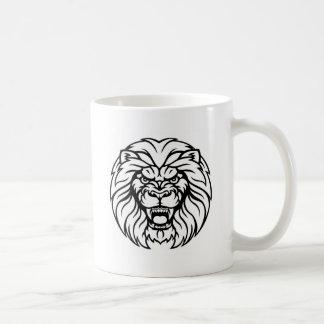 Lion Sports Mascot Angry Face Coffee Mug