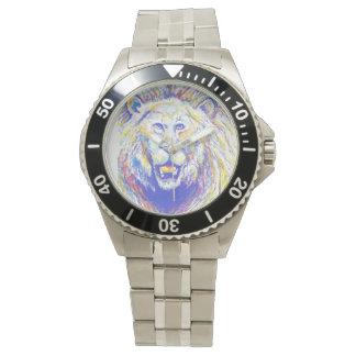 lion (spraypainted) watch
