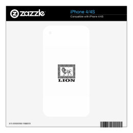 lion stamp decal for the iPhone 4