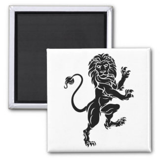 Lion Standing Rampant Heraldic Coat of Arms Crest Magnet
