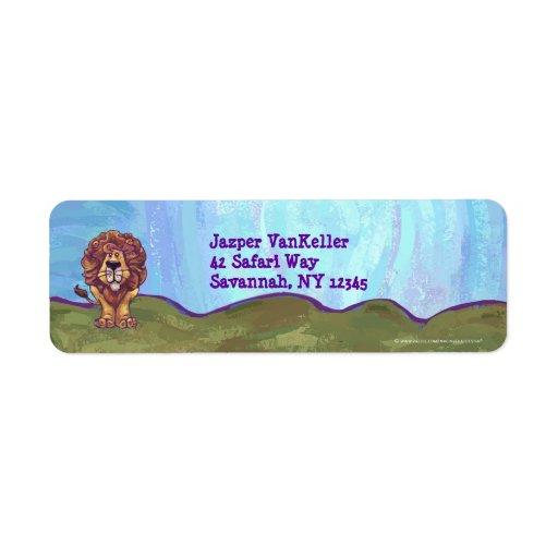 Lion Stationery Return Address Labels