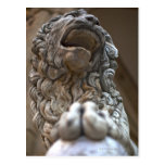 lion statue Florence Italy Postcard