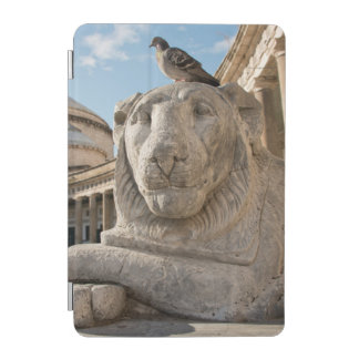Lion statue in front of historic church iPad mini cover