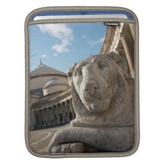 Lion statue in front of San Francesco di Paola iPad Sleeve