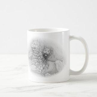 Lion statue study - Pierre Jacques mug