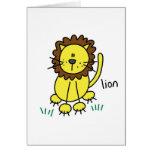 Lion Stick Figure Card