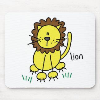 Lion Stick Figure Mousepad