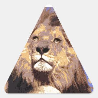 Lion Triangle Sticker