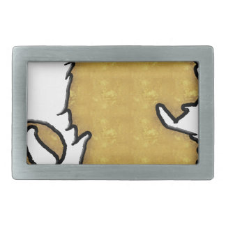 Lion Strength Rectangular Belt Buckles