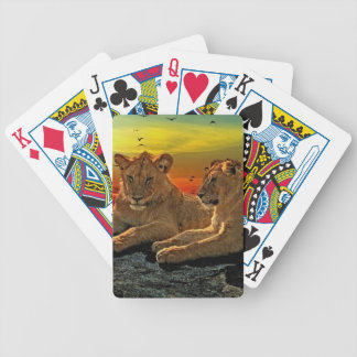 Lion Style Bicycle Playing Cards