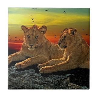 Lion Style Ceramic Tile
