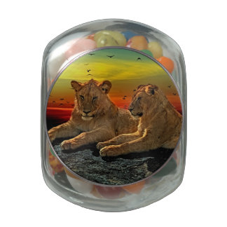 Lion Style Jelly Belly Candy Jar