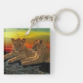 Lion Style Keychain