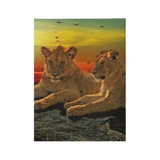 Lion Style Wood Poster