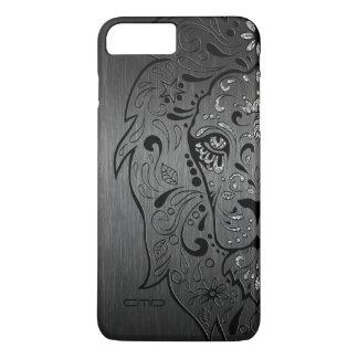 Lion Sugar Skull On Gray Background iPhone 7 Plus Case