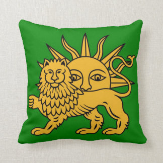 Lion & Sun Throw Pillow