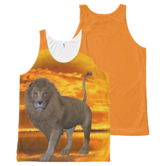 Lion Sunset All-Over Print Tank Top