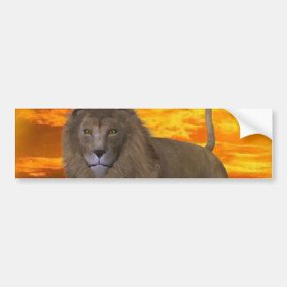 Lion Sunset Bumper Sticker