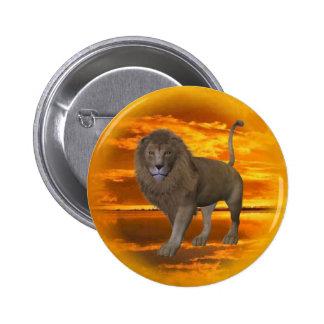 Lion Sunset Button