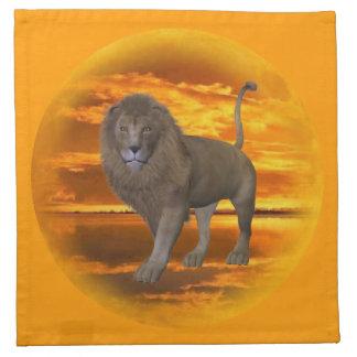 Lion Sunset Cloth Napkin