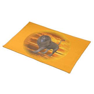 Lion Sunset Cloth Placemat