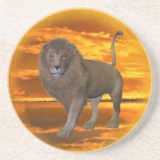 Lion Sunset  coaster