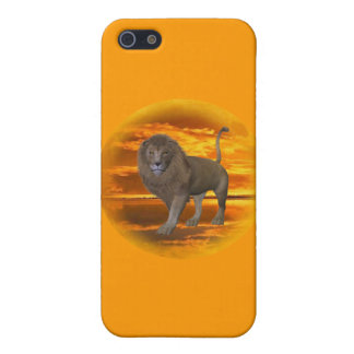 Lion Sunset Cover For iPhone SE/5/5s