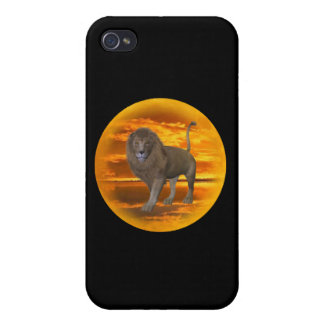 Lion Sunset Covers For iPhone 4