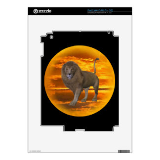 Lion Sunset Decal For iPad 2