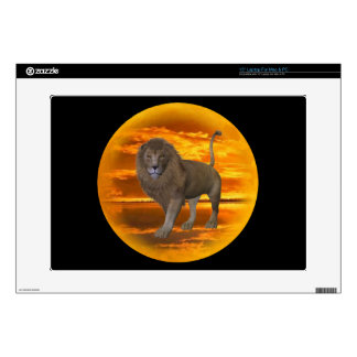 Lion Sunset Decal For Laptop