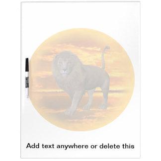 Lion Sunset Dry-Erase Board