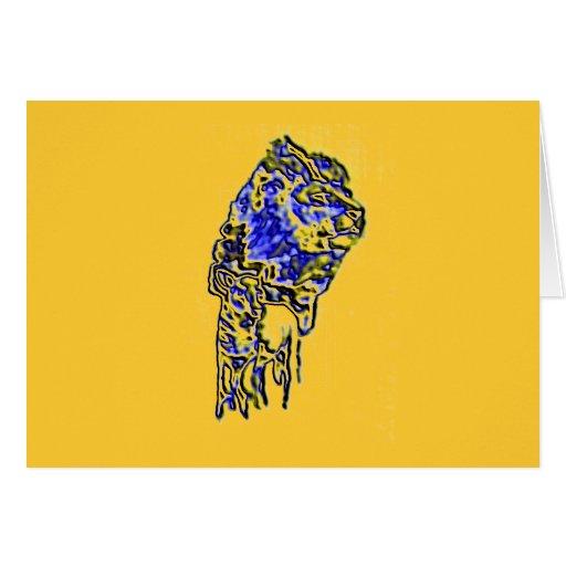 Lion Sunset Greeting Card
