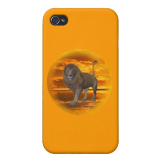 Lion Sunset iPhone 4 Covers