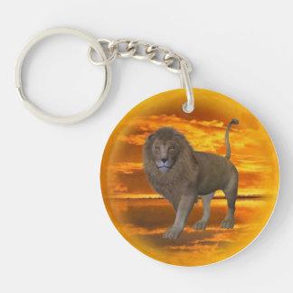 Lion Sunset Keychain