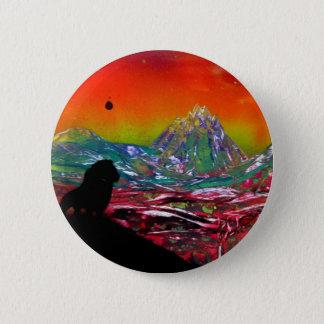 Lion Sunset Landscape Spray Paint Art Painting Button