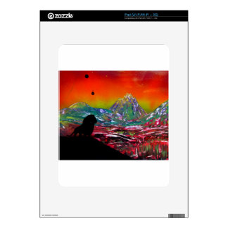 Lion Sunset Landscape Spray Paint Art Painting Decal For The iPad