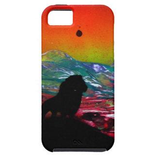 Lion Sunset Landscape Spray Paint Art Painting iPhone SE/5/5s Case